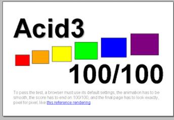 Safari for PC Acid3 Test Results