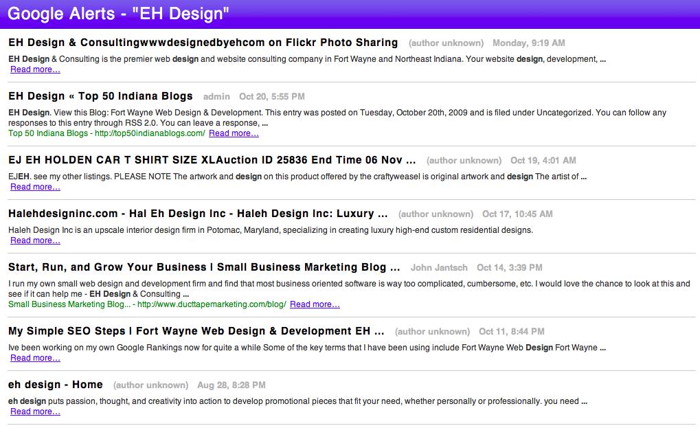 Google Alerts RSS Feed - Safari