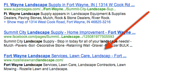fort wayne web deisgn   fortwaynelandscape Fort Wayne Landscape Search Engine Case Study, part 2